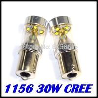 50pcs Bright CREE 30W 1156/Ba15s/P21W Power LED Backup Reverse Tail Light Bulb Lamp White DRL Headlight parking car light source