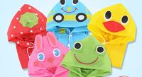 2014 [BECOLA] Hot sales five color children raincoat animal type waterproof kids raincoat average size coat BR-1006D