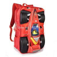 New Arrival 3D Cartoon Cars Backpacks Boy Kids Awesome Formula Car Model Bags Children Outdoor Sports Travel Shoulders Bag