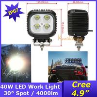 4x truck Cree led boat car 40W suv atv Led working light Offroad work lamp waterproof,Car CREE LED Work Light Free Ship