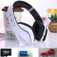 1PCS Free Shipping Fashion wireless headphone  Folding sports Bluetooth FM TF card support MP3 headset +4GB TF Card +Card Read