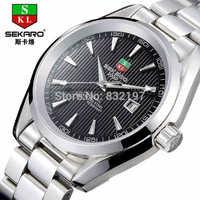 Mechanical watches men's authentic male mechanical waterproof ultra-thin men's watch luminous hollow out business wrist watch