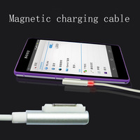 Magnetic USB charging cable with LED smart prompt for Xperia Z1 L39h / C6903 / L39t / L39u / Z1 / Z2