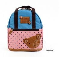 Children messenger bag small bear bags canvas high quality boys cartoon fashion handbags zipper design 2014