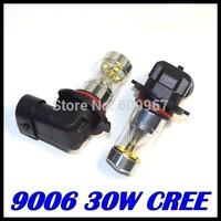 10pcs 9006 led High Power 30W 6LED Pure White Fog Head Tail Driving Car Light Bulb Lamp 12V 9006 30W foglamp car light source