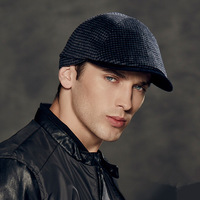 Kenmont Men Male Winter Autumn Warm Wool Outdoor Peak Newsboy Cabbie Hat Ivy Cap Adjustable 2369
