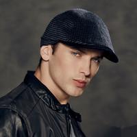 Kenmont Men Male Winter Autumn Warm Wool Outdoor Peak Newsboy Cabbie Hat Ivy Cap Adjustable 2369