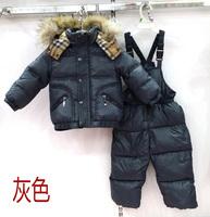 Children's clothing set parkas suit  top with pant boy's fashion suit children's garment,freeshipping