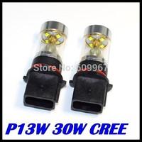 2PCS/LOT P13W Led Bulb 30W High Power Ultra Bright CREE P13W LED Car Foglamp Fog Light 700LM White 12V Free Shipping Wholesale