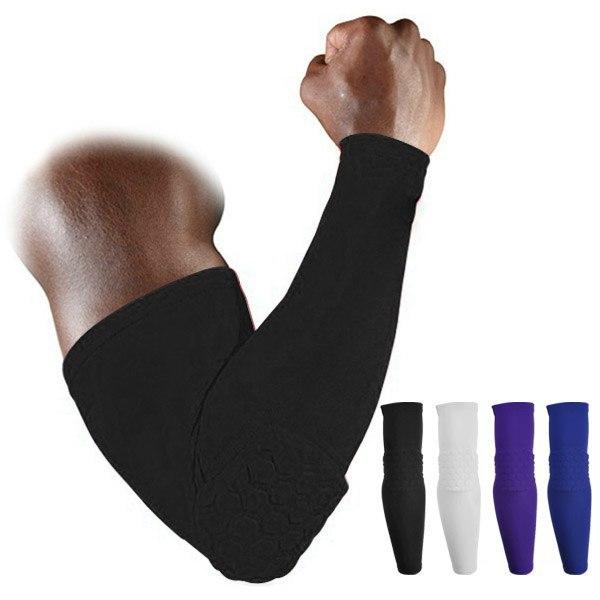High Elastic Gym Sports Long Arm Sleeve Support Basketball Shooting Honeycomb Sport