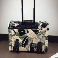 Limited Edition Michael Jackson Travel Trolley Case Men Women universal retro fashion suitcase Lockbox carrying case