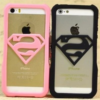 Free Shipping For iphone 5 5s case Superman rubber Border cell phone cases covers