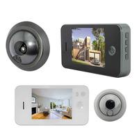 """Digital 3.5"""" inch Color Door Viewer  eye Doorbell Home Security Door Camera Peephole Auto Snapshot 150 degree Wide angle"""