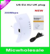 melhor qualidade !! 300Mbps Signal Boosters Wireless- N Wifi Repeater localizador 802.11 / B / G Rede Router Faixa Expander WPS Amplificador(China (Mainland))