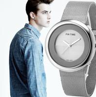 2014 men size brand silver men's sports dress full waterproof steel strap men's michael casual wristwatches WITH GENUINE BOX