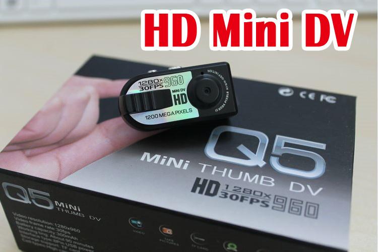 Hot mini Sports DV HD Video Camera Q5 1280x960 HD with retail package(China (Mainland))