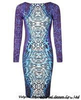 Free shipping Summer Dress Purple Leopard Dresses For Women Vestido de Festa Women Dress hot sale  Autumn Women Clothing