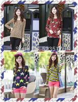 [No.24]Autumn new arrival basic shirt for women Korean style O-neck t shirt Fashion slim full sleeve women's cashmere t-shirt
