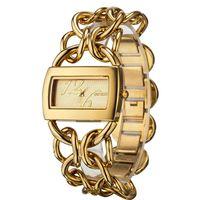 2014 women rectangular bracelets chains cowboys brand gold silver fashion women's casual dress steel waterproof casual watch