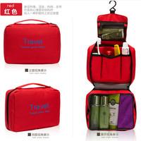 1pc/lot Portable Polyester Travel Wash Bag Toiletry Make Up Ladies Hanging Folding Bag Cosmetic Storage Sorting Bag AY840029