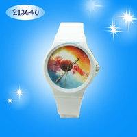 Hot New 2014 willis Brief transparent Silicone Casual Women Men Street Quartz Watch Galaxy Pattern Watches