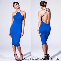 Free shipping Summer Dress 2014 Desigual Peter Pan Collar Women Dresses Bodyvon Bule Elegant Sexy Dress  Women Clothing