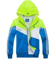 2014 spring Autumn new men's sports jacket hooded jacket Men Fashion Thin Windbreaker Zipper Coats free shipping