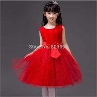 Retail baby girls summer princess dress kids party dress beautiful wedding dress 7 colors free shipping 5031
