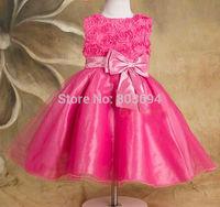 retail girl flower dress ,child princess gauze dress summer , summer costume free shipping 5031