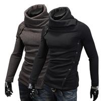 Fashion Men 's sweater, sweater Male colorant match turtleneck slim sweater outerwear Pullovers,Size:XS-L fashion