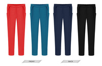 2014 new fashion women pants haren cotton casual trousers yoga pants woman british style loose long haren sweatpants