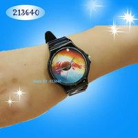 waterproof Custom Galaxy Space Quartz Watch - Plastic Watch women dress watch
