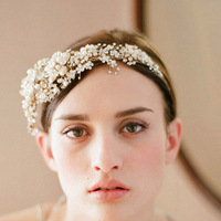 Min order $10 Free shipping 2014 high quality NEW crystal flower bridal headbands LUXURY wedding jewelery SE1001
