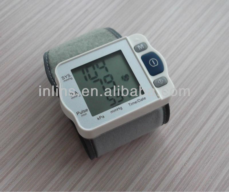 Free shipping ! Household health monitors Digital Wrist Blood Pressure Monitor oximetro de dedo blood pressure monitor(China (Mainland))