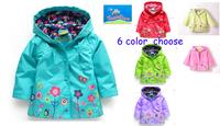 Jacket for girls topolino autumn winter fleece lined hoodies jacket outerwear flower children girls rain oxford trench coat