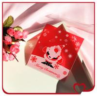 100pcs/lot Christmas series,Santa Claus Plastic cookie packaging bags,10x11cm cake bag,Valve bag free shipping