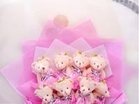 Plush dolls flowers creative gifts
