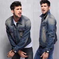 Very good quality 2014 men's clothing men's jeans jackets man denim jacket for men 100% cotton outerwear jean Coats