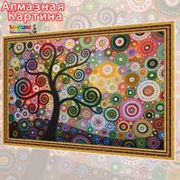 Free shipping Wholesale retail Cross Stitc DIY diamond embroidery kit Inlaid decorative painting Oil Painting  tree 08358