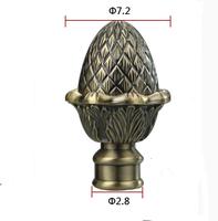 28MM Europe Style Vintage Aluminum alloy Bronze pineapple roman rod head Curtain Accessories