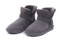 Top-Brand 100% Australia Sheepskin Women's 5855 Winter Snow Boot for ,winter sheepskin Shoes with clasp,Free Shipping!