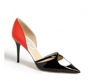 luxury patent leather women pumps 2014 sexy pointed-toe women brand high heels cut-outs women autumn dress shoes