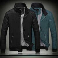 2014 new jacket to increase the autumn Mens casual urban solid book jacket M-7XL Bust 108-148 cm
