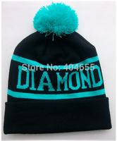 Free Shipping  4 Colors New Fashion Diamond Caps Adult Knitting Wool Warm Winter Hats Men Women Hip-hop Beanies