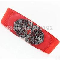 European and American retro fashion belts Ms. Korean decorative elastic waistband wild female black wide belt