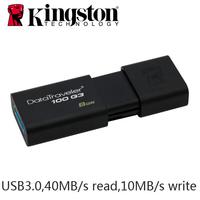 Original Kingston DT100G3 USB 3.0 USB Flash Drive Pen Drive 64GB 8GB 16GB 32GB Pendriver USB Key Full Capacity Retail package