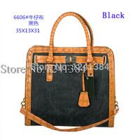 Jeans canvas 6606 LOCK hamilton famous brand WOMEN'S fashion M bag designers handbags purse lady's 2014 new totes shouldbags