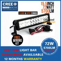 """72W Cree Light Bar LED Combo 13.5"""" Off Road Fog Driving 4x4 SUV Bar UTV ATV 12V 24V Led Working Light Bars"""