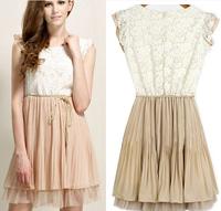 2014 Womens Summer casual elsa dress wedding vestidos autumn stamped bandage party Dresses Slim Princess Lace dresses leopard