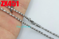 2.5mm Popcorn chain stainless steel necklace fashion men's women jewelry chains 20pcs ZX451